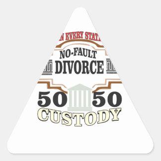Adesivo Triangular reduza a custódia 50 50 automática dos divórcios