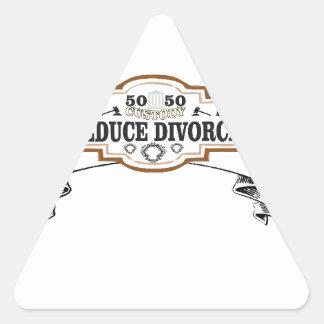 Adesivo Triangular reduza a custódia 50 do divórcio 50