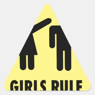 Adesivo Triangular Regra das meninas