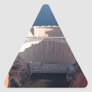 Adesivo Triangular Represa da garganta do vale e ponte, arizona