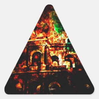 Adesivo Triangular Respire outra vez sonhos dos padrões romanos perto