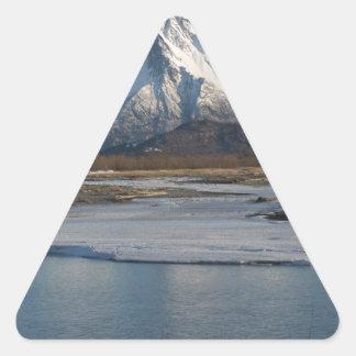Adesivo Triangular Rio máximo pioneiro da montanha e do Matanuska