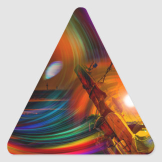 Adesivo Triangular Romance of sailing - Calcular o tempo túneis