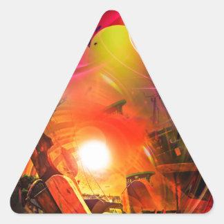 Adesivo Triangular Romantismo de vela - Calcular o tempo túneis