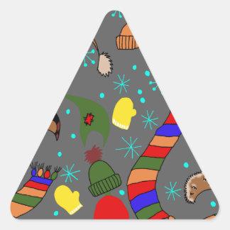 Adesivo Triangular Roupa do inverno