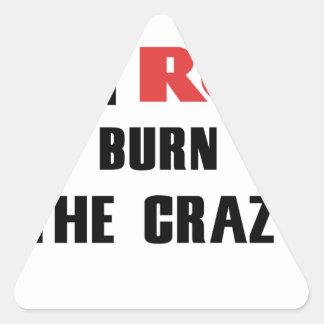 Adesivo Triangular Ruína e saúde, para consumir o louco