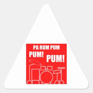 Adesivo Triangular Rum Pum Pum Pum do Pa