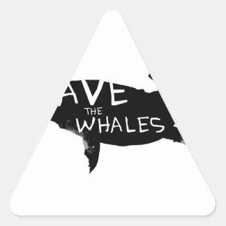 Adesivo Triangular Salvar as baleias