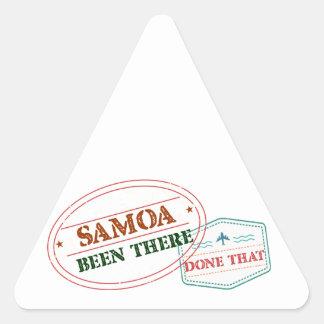 Adesivo Triangular Samoa feito lá isso