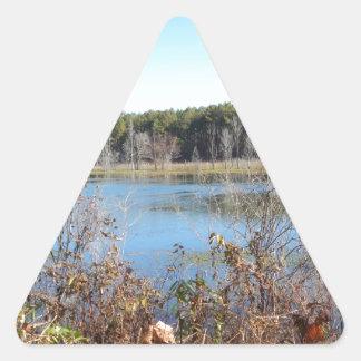 Adesivo Triangular Santuário de pássaro do lago sams