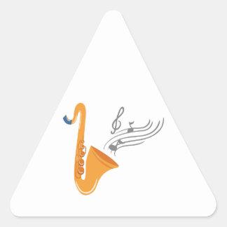 Adesivo Triangular Saxofone do saxofone de Saxophon