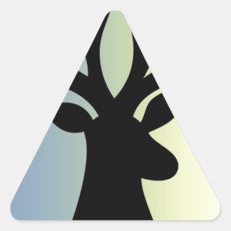 Adesivo Triangular Seja sombra brava da cabeça dos cervos
