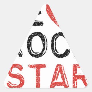 Adesivo Triangular Seja uma estrela do rock