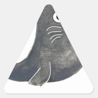 Adesivo Triangular Selo de aprovação