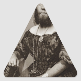 Adesivo Triangular Senhora farpada bonita