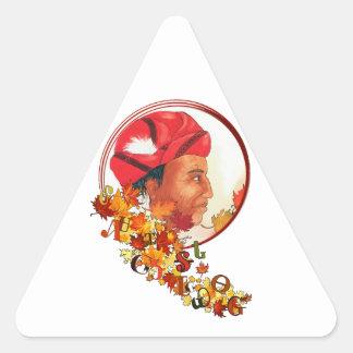 """Adesivo Triangular Sequoyah & o Syllabary Cherokee """"que fala saem """""""