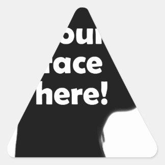 Adesivo Triangular seu-cara-aqui-cópia