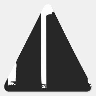 Adesivo Triangular Silhueta da arquitectura da cidade