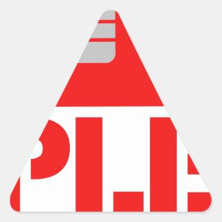 Adesivo Triangular 'SIM'ple