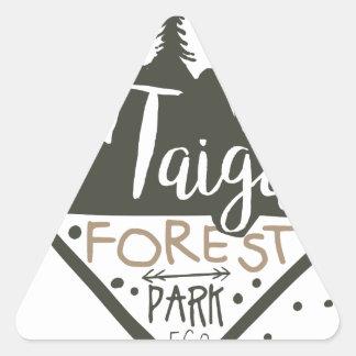 Adesivo Triangular Sinal do promo do parque do eco da floresta de