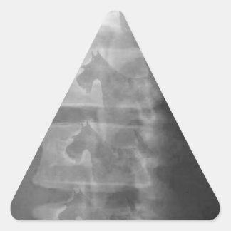 Adesivo Triangular síndrome do cão do scottie