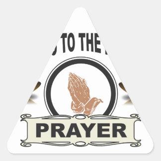 Adesivo Triangular sinos do acesso da oração