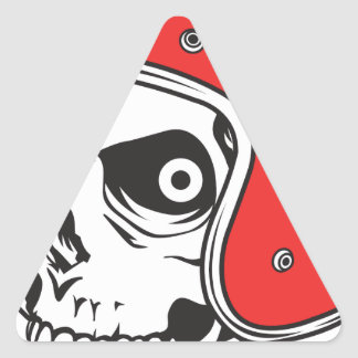 Adesivo Triangular ☞ Skullracer motorcycle helmet