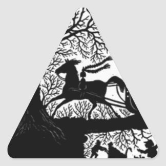 Adesivo Triangular Sleigh_Ride_Silhouette