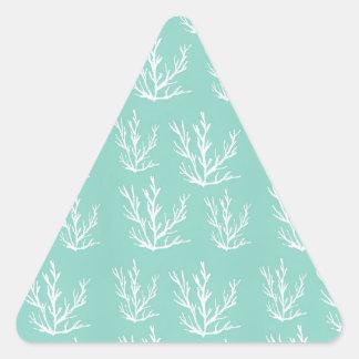 Adesivo Triangular sob o mar