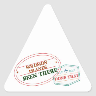 Adesivo Triangular Solomon Island feito lá isso
