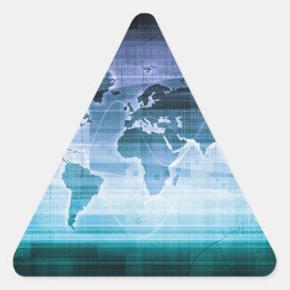 Adesivo Triangular Soluções globais da tecnologia