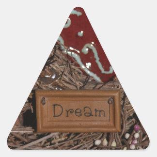 Adesivo Triangular Sonho
