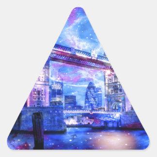 Adesivo Triangular Sonhos da Londres do amante