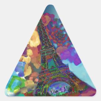 Adesivo Triangular Sonhos de Paris das flores