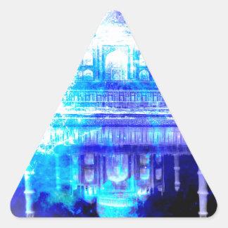 Adesivo Triangular Sonhos de Taj Mahal do céu da criação