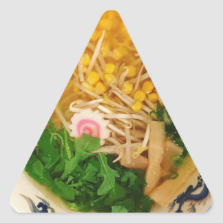 Adesivo Triangular Sopa de macarronete dos Ramen da carne de porco