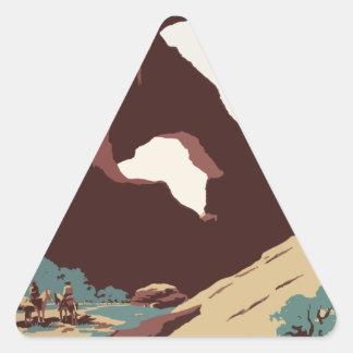 Adesivo Triangular Sudoeste América EUA do poster das viagens vintage
