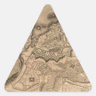 Adesivo Triangular Suiça 1773 de Genebra
