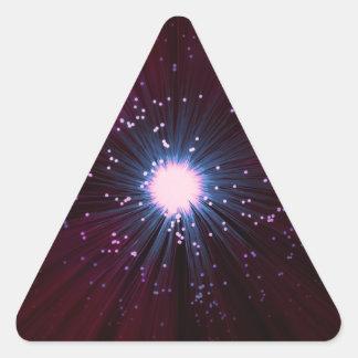 Adesivo Triangular Sumário da fibra óptica