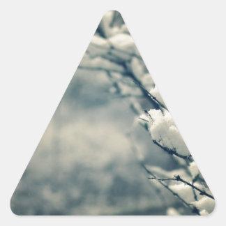 Adesivo Triangular Tapete do rato nevado da árvore