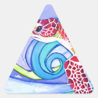 Adesivo Triangular Tartaruga de Surfin