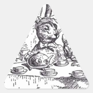 Adesivo Triangular Tea party louco do Hatter