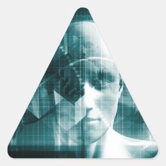 Adesivo Triangular Tecnologia futurista da ciência médica como uma