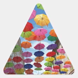 Adesivo Triangular Telhado dos guarda-chuvas