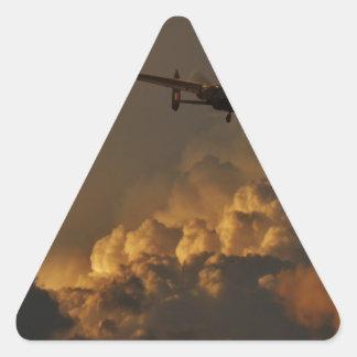 Adesivo Triangular TEMPESTADE do bombardeiro de Lancaster
