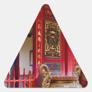 Adesivo Triangular Templo em Yilan, Formosa
