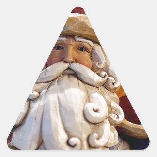 Adesivo Triangular Tempo do Natal do Natal de Papai Noel Nicholas