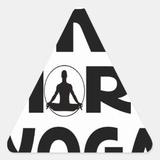 Adesivo Triangular Tente mais ioga