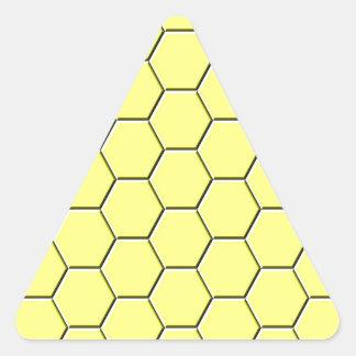 Adesivo Triangular Teste padrão amarelo do favo de mel