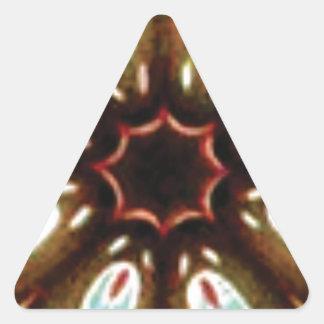 Adesivo Triangular teste padrão colorido do ponto
